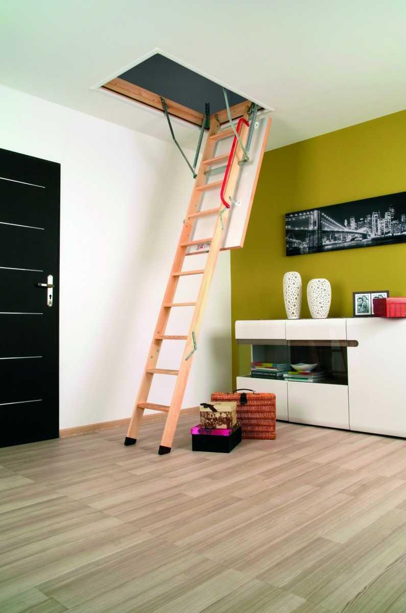 Типы конструкций чердачных лестниц
