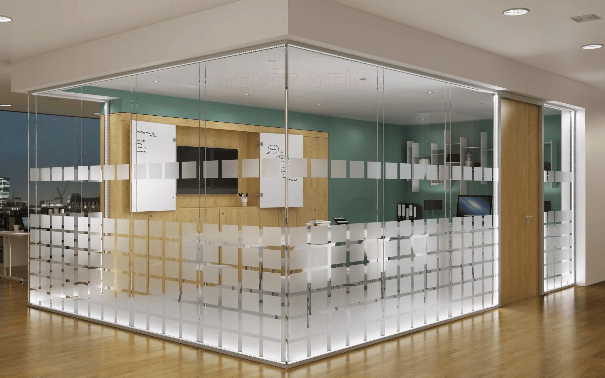 Оклейка стекол пленкой в офисе